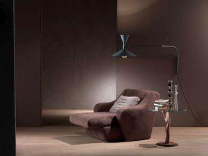 PO49 Morfeo, Butaca con asiento extensible, de poliuretano tapizada