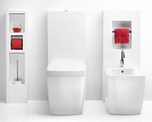 SQUARE MONO WC BIDET, Aparatos sanitarios de cerámica con cisterna