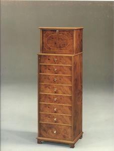 2350 ARMARIO, Mueble con cajones de madera para habitaciones de estilo clásico
