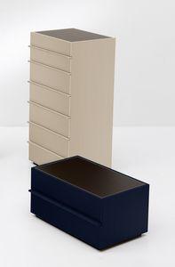 AKI dresser, Unidad 7 cajones en el dise�o lineal, para el dormitorio