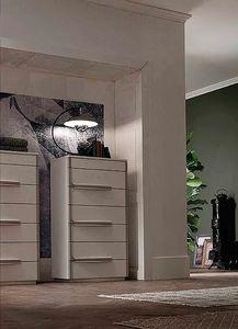 Even, Cómoda de siete cajones con un diseño minimalista