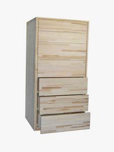 Settimino, Cómoda de madera con 7 cajones.