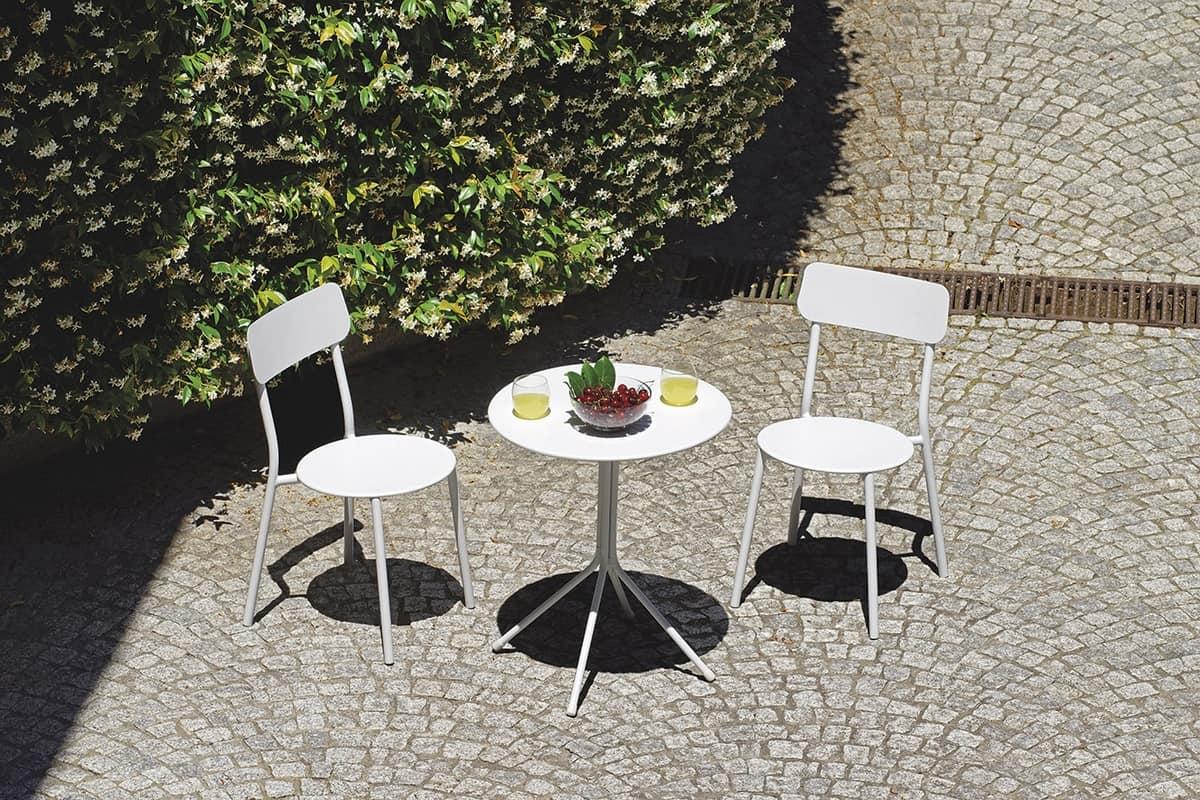 Fijado para el exterior en hierro galvanizado blanco for Amoblamiento para jardin
