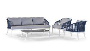 Aruba/Guadalajara, Conjunto exterior con sofá y mesa auxiliar.