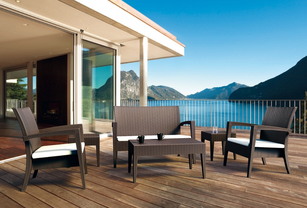 Creta Set, Muebles al aire libre, ideal para bar de la playa
