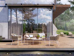 LOVE EVO, Conjunto de asientos para muebles de exterior.