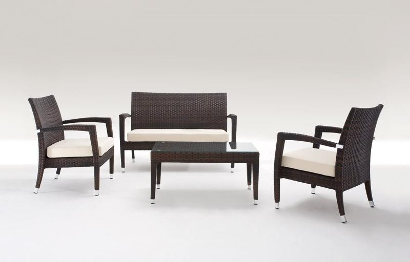 Malibù Set, Muebles de exterior septiembre, totalmente tejida, para los jardines y bares