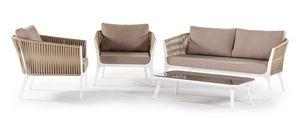 Merida, Conjunto de jardín con sillones y sofá.