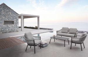 Messico Set, Conjunto exterior con sillones y sofá.