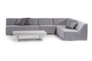 MIKONOS SET, Conjunto de jardín con sofá modular de espuma