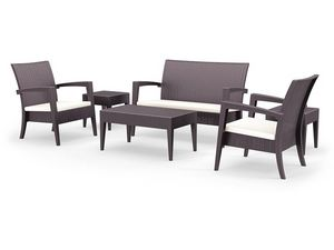 Minorca Set, Modern asiento y una mesa, en la rota, para uso en exteriores