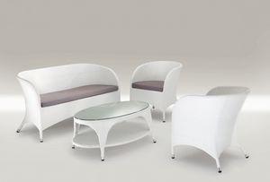 Pola Set, Set muebles al aire libre, aluminio tejida, para bares