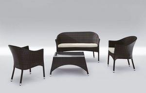 Rio Set, Modern asiento y mesa para su uso al aire libre Patio