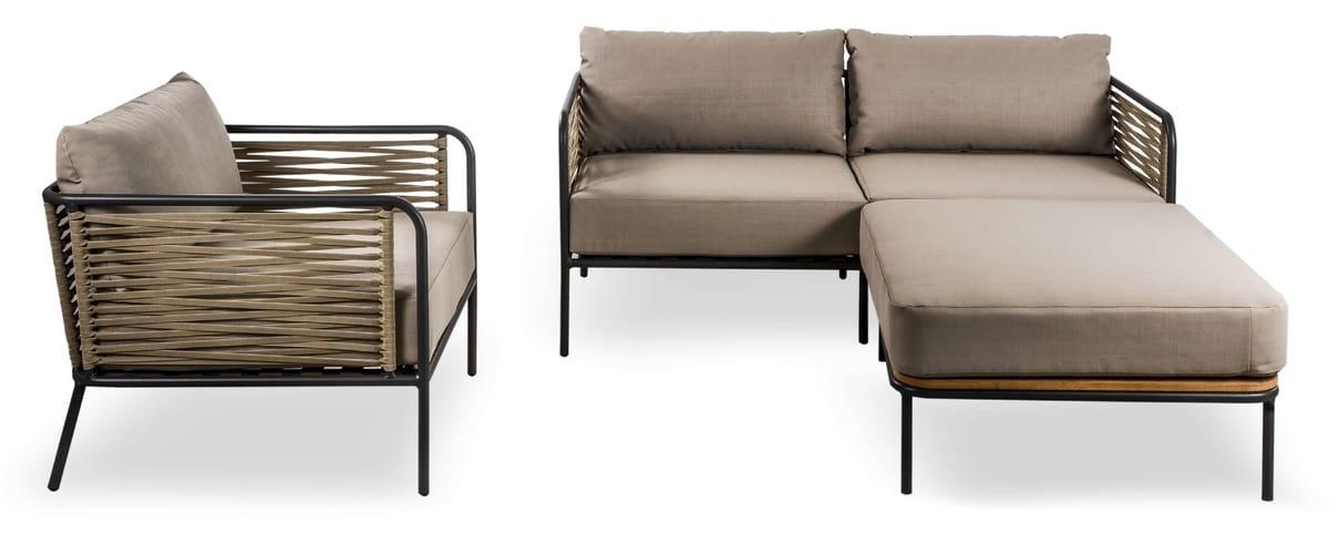 SET CORTINA, Conjunto de sofás y sillón para exteriores