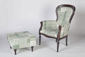 Art. 588, Puf clásico cubierto en algodón, en varios colores