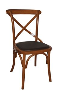V17, Silla de madera curvada con asiento tapizado
