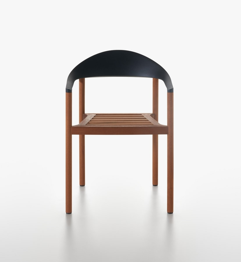 Monza mod. 1209-40 outdoor, Sillón de exterior en iroko madera maciza