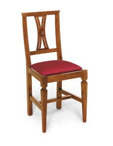 Art. 123, Silla de estilo clásico, con asiento tapizado.