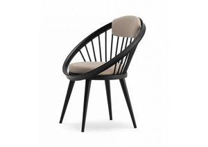 Circle, Silla de madera con asiento acolchado