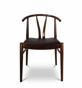 DUBLINO, Silla de madera con asiento tapizado