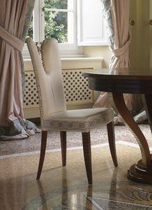 Grand Etoile Art. GE042/AR, Silla de comedor con elegante decoración tallada