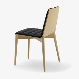 Greta, Silla moderna en madera, tapizada