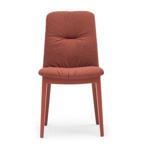 Light 03212, Silla de madera, con asiento y respaldo tapizados.