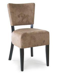 PORTOCERVO S, Silla de madera con asiento tapizado