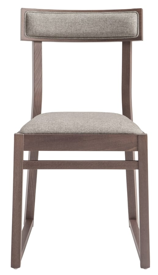 SE 439, Silla de madera con asiento tapizado