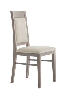 SE 490/A, Silla de madera con respaldo y asiento acolchado