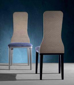 SE56 Optical Skin silla, Silla con respaldo de madera, con losa de efecto 3d.