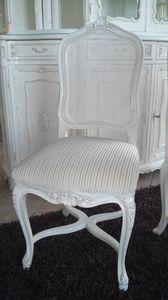 3310 SILLA LUIGI XV, Silla con respaldo de caña, Louis XV