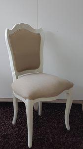 3520 Silla, Silla de estilo inglés, con asiento y respaldo acolchado