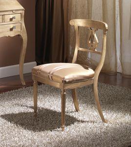 712 SILLA, Silla de madera con asiento acolchado, estilo Imperio