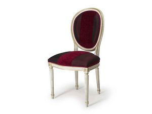 Art.104 chair, Silla con respaldo acolchado ovalado, estilo Luis XVI