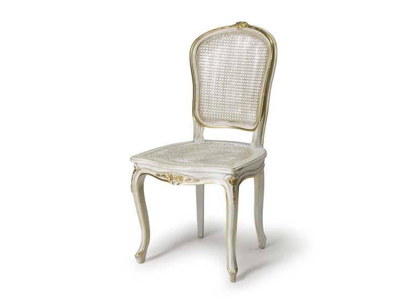 Art.108 chair, Silla con asiento y respaldo de paja, estilo Luis XV