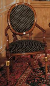 Art. 1113, Silla de estilo clásico para salas de estar, respaldo ovalado