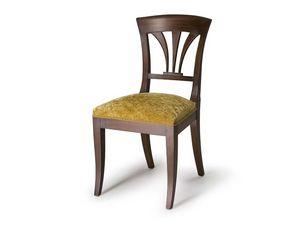 Art.133 chair, Silla con respaldo de madera, de estilo clásico
