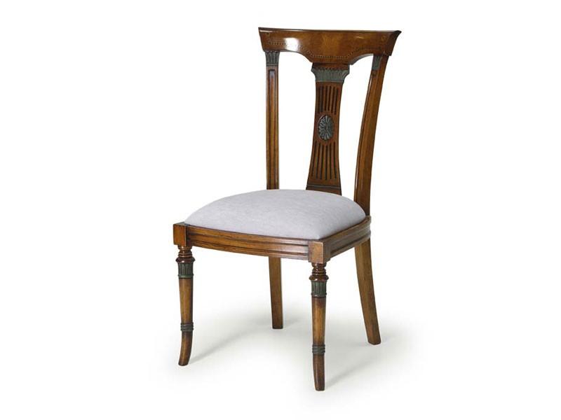 Art.186 chair, Cena de la silla, asiento tapizado y respaldo de madera