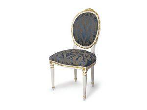 Art.439 chair, Silla tapizada con respaldo ovalado, Louis XVI Estilo