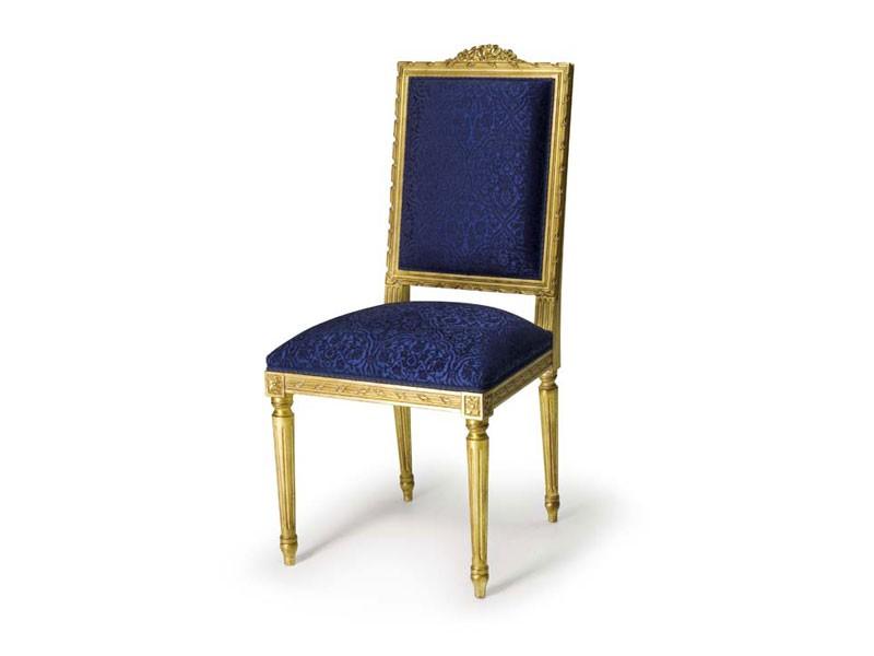 Art.441 chair, Silla acolchada de madera de haya, estilo Luis XVI