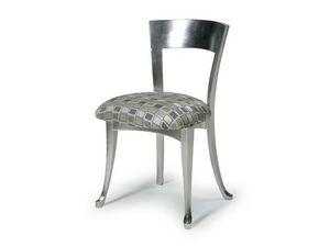 Art.446 chair, Silla de madera con asiento acolchado, de estilo clásico