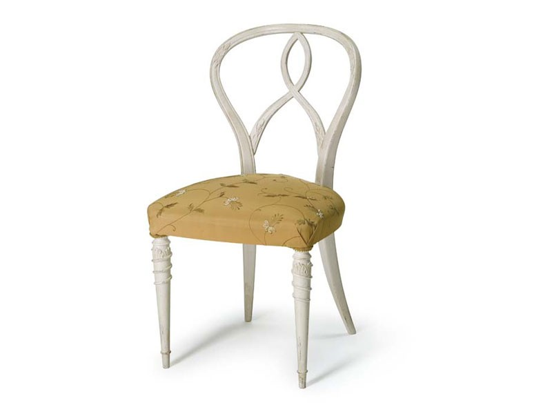 Art.492 chair, Silla de madera de nogal en bruto, asiento acolchado