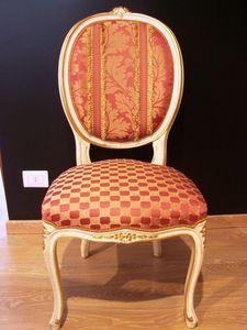Art. 830, Silla clásica de lujo para el hogar, estilo Luis XV