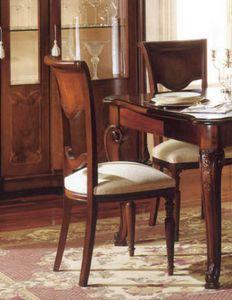 Canova silla, Silla clásica en madera de nogal, tallada por artesanos