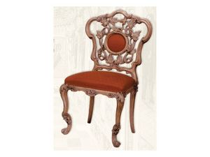 Chair art. Sari, Silla de madera con asiento acolchado, estilo Art Deco