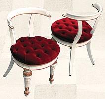 Chair art. Soft Dinner, Silla acolchada para los comedores, estilo Directorio sobre la