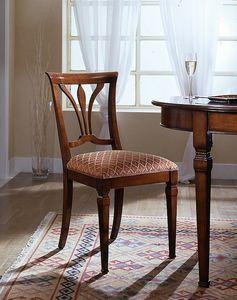 D 601, Silla con el asiento cubierto en la tela hecha en Italia