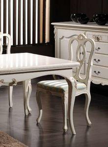 Desiree Silla, Silla clásica en madera lacada en blanco