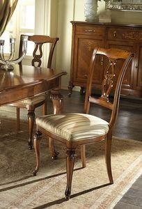 G 601, Silla tallada y clásica, con asiento acolchado